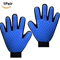 Pet Grooming Glove ,Dog Brushes For Sheldding Small Medium Large Dog .Cat Deshedding Brush Glove,Pet Grooming Glove For Golden Retriever Poodle Husky Bull Terrier Rabbits Cats 1 Pair Glove (Right &Left )