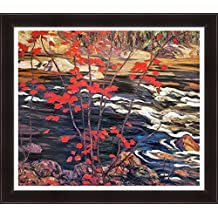 A.Y. Jackson Hand Textured Limited Edition Giclee Group Of Seven Print Red Maple