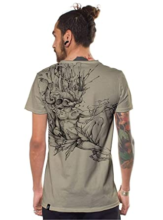 32c5137b Amazon.com: Street Habit Mens Urban T-Shirt DM The Father Point of Creation  Going Out Top Sand Brown: Clothing
