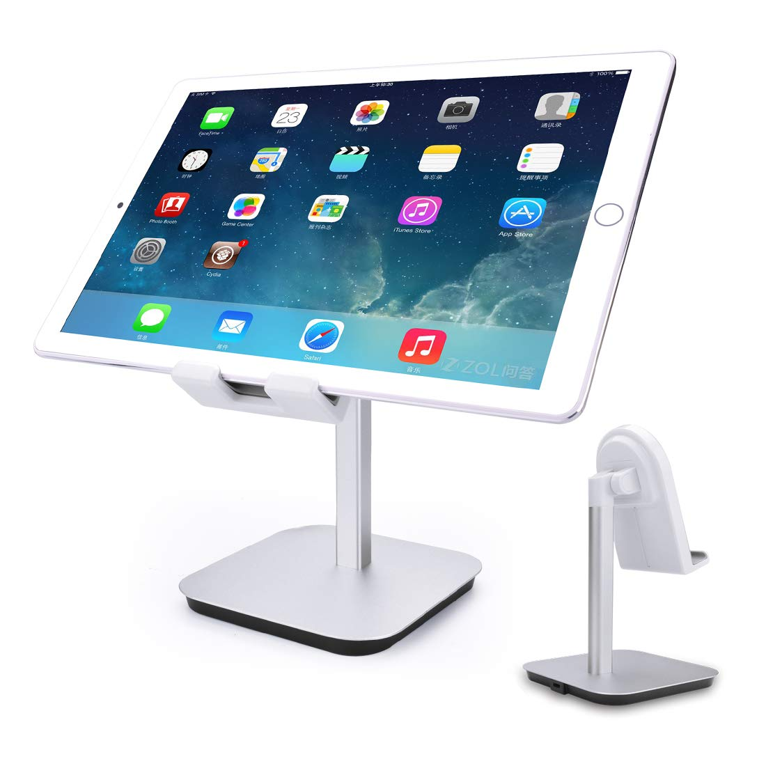 Enjoyable Cell Phone Tablet Stand Adjustable Swivel Aluminum Stand Multi Angle Aluminum Modern Accessories For Desk Desktop Ipad Pro Iphone Silver Gmtry Best Dining Table And Chair Ideas Images Gmtryco