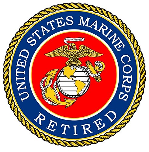 Chiam-Mart 1 Pc Important Unique United States Marine Corps Retired Semper Fidelis Sticker Sign Trucks Bike Patches Decals Decor Car Stickers Cars Vinyl Wall Hoverboard Laptop Decal Size 8