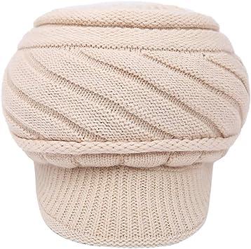TwoCC-Sombrero de punto, damas de invierno al aire libre y gorro ...