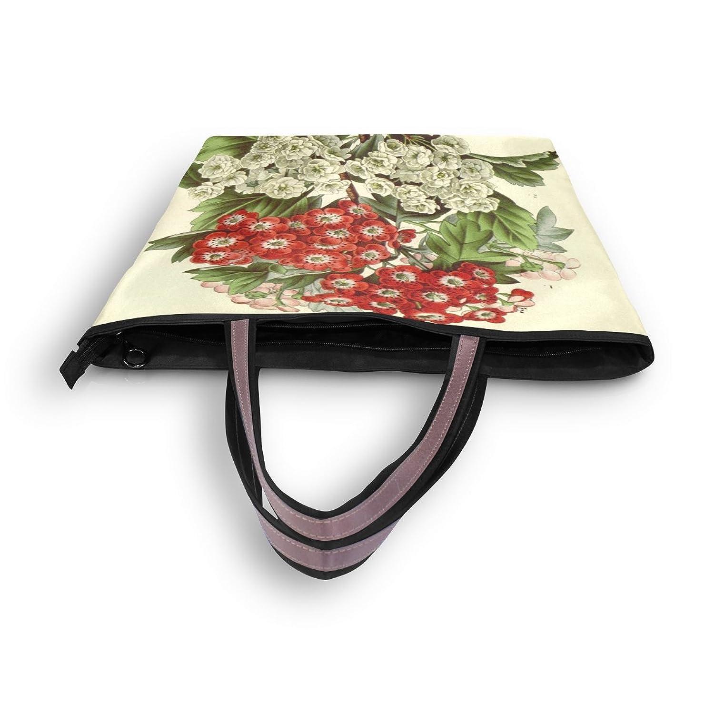 WHBAG Lightweight Handbag For Women,Art Vintage Flower,Shoulder Tote Bag