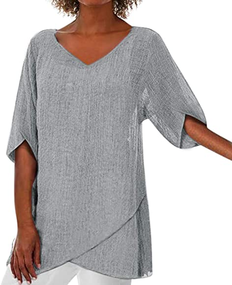 T Shirt Casual Flowy Tunic Top Blouse