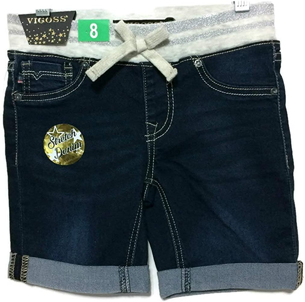 VIGOSS Girls Stretch Denim Shorts with Adjustable Waistband
