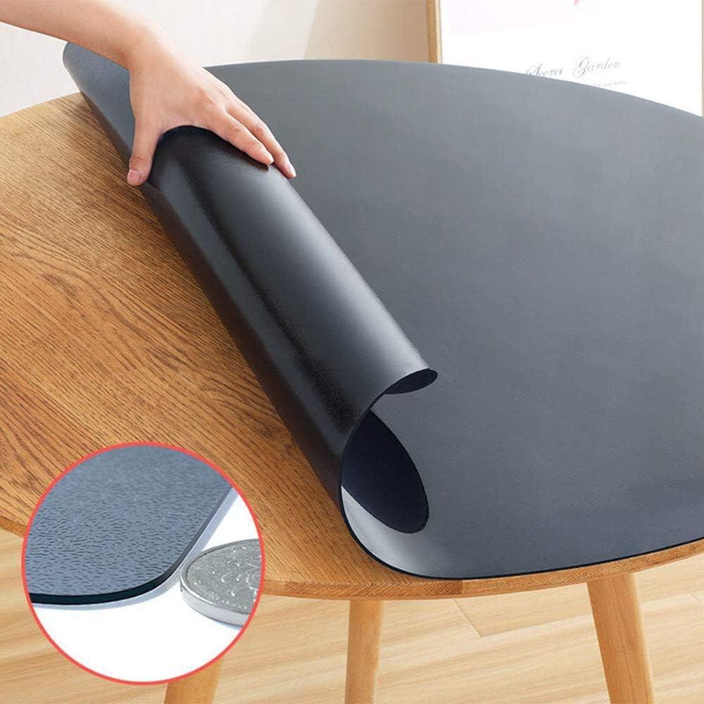 24x39inch table cloth Protector De Mesa De PVC Grueso,rectangula Impermeable Pl/ástico Cubierta De Mesa A Prueba De Derrames Vinilo Mantel para Exterior Comida Mesa De T/é Negro-1.5mm 60x100cm