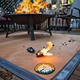 """Ember Mat   67"""" x 60""""   Fire Pit Mat   Grill Mat   Protect Your Deck, Patio, Lawn or Campsite from Popping Embers"""