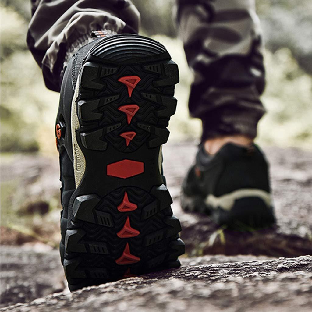 Nihiug Wanderschuhe Männer Wasserdichte Wanderschuhe Leder Leder Leder Trekking Frühling Tourismus Outdoor Freizeit Schuhe atmungsaktive Lederschuhe 407c5d