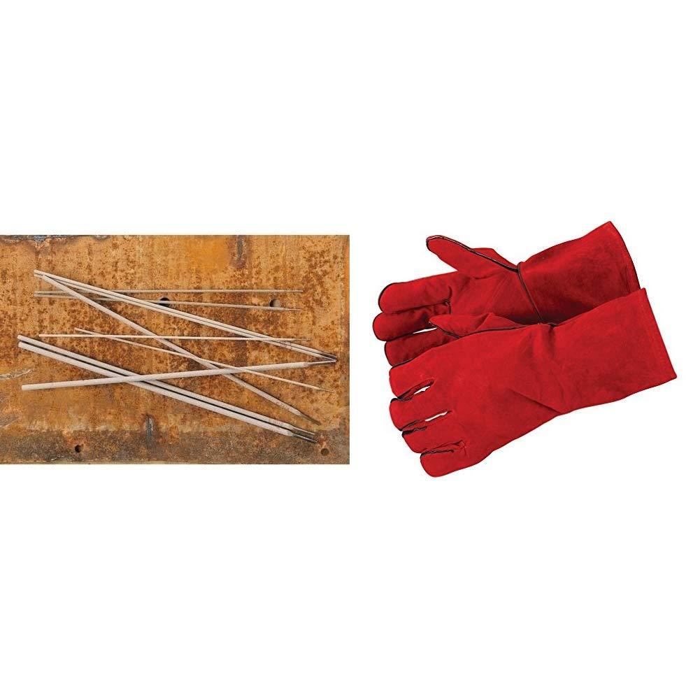 Lincoln-Kd 609060 - Electrodo Rutilo Omnia 46 25X350 & Silverline 742076 - Guantes para soldador (330 mm): Amazon.es: Bricolaje y herramientas