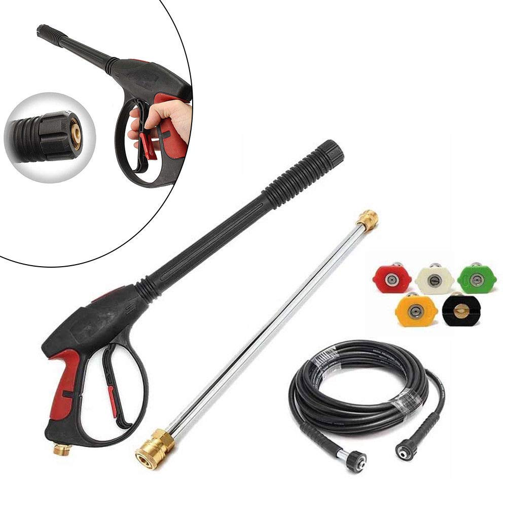 TFCFL 3000PSI High Pressure Car Power Washer Spray Gun Wand Nozzle Tip Hose Kit