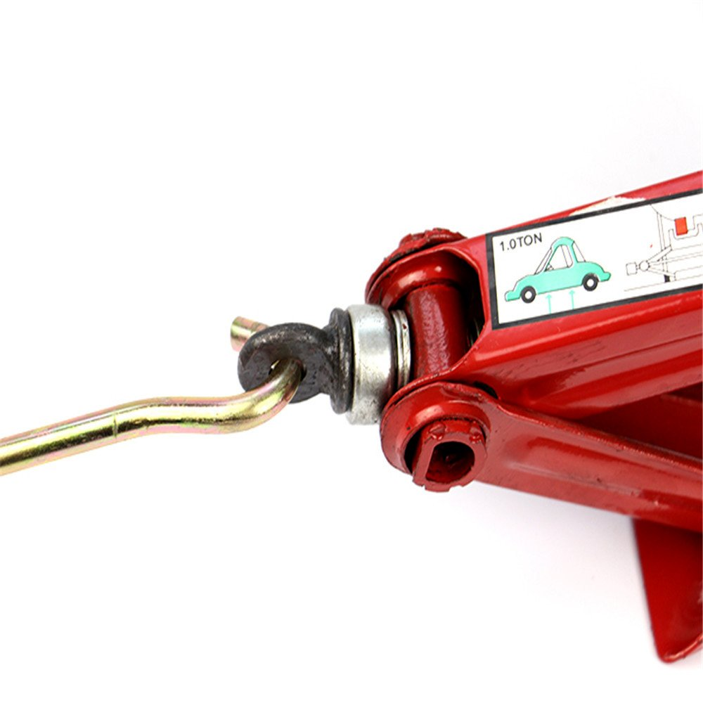 Okeler 1 Ton Scissor Jack for RV Car Motorcycle Lifting Home Emergency, Red by Okeler (Image #2)