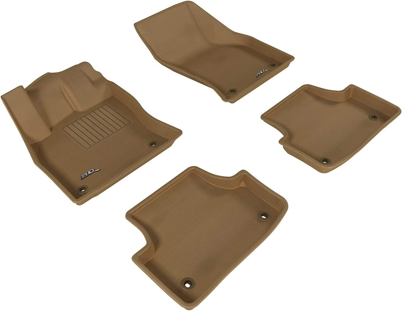 3D MAXpider Complete Set Custom Fit All-Weather Floor Mat for Select Audi A3/S3 Models - Kagu Rubber (Tan) 6148JqyFSOL