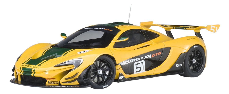 Autoart – P1 GTR Genova Motor Show 2015 McLaren Fahrzeug Miniatur, 81544, gelb grün, Maßstab 1 18