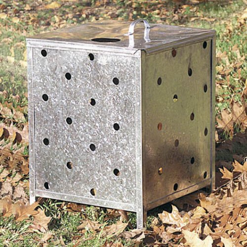GENUINE PARASENE SQUARE INCINERATOR WITH LID AND HOLES ALL THE WAY UP
