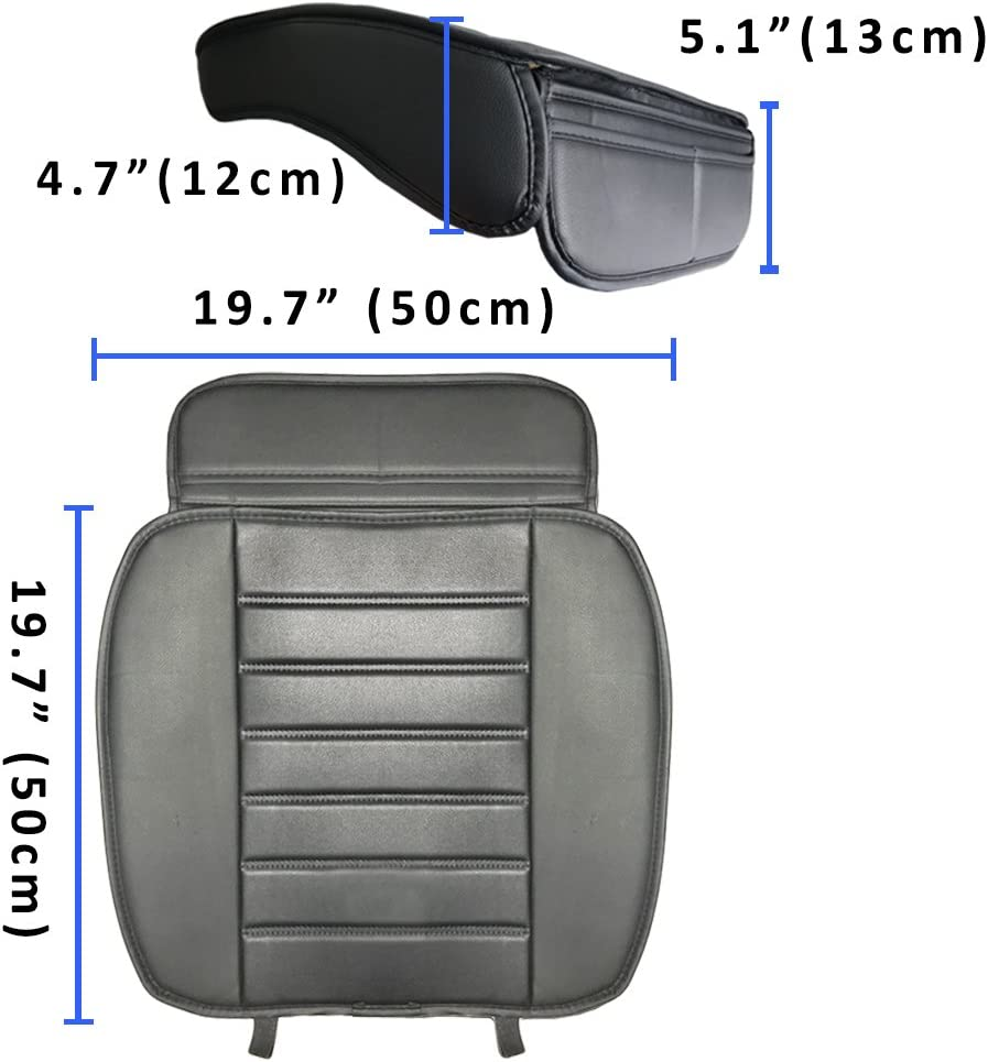 Black-1pc Big Ant Heated Seat Cushion Heated Seat Cover Universal Fit for SUV Auto Cars Home Office Chair 12V Car 24V Truck Seat Heater Edge Wrapping Nonslip Heating Pad Winter Warmer