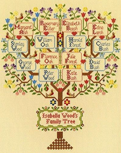 Bothy Threads Cross Stitch Kit - Traditional Family Tree Xbd2 (Stitch Cross Family Tree)