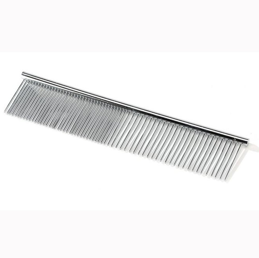 South Weekend Trimmer Grooming Comb Brush Comb Rake Hair Shedding Kill Flea for Pet Cat Dog 2018 (Sliver)