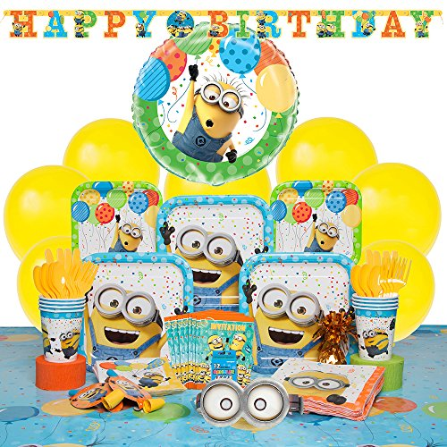 Deluxe Despicable Me Minions Party Supplies Kit for 8 ()