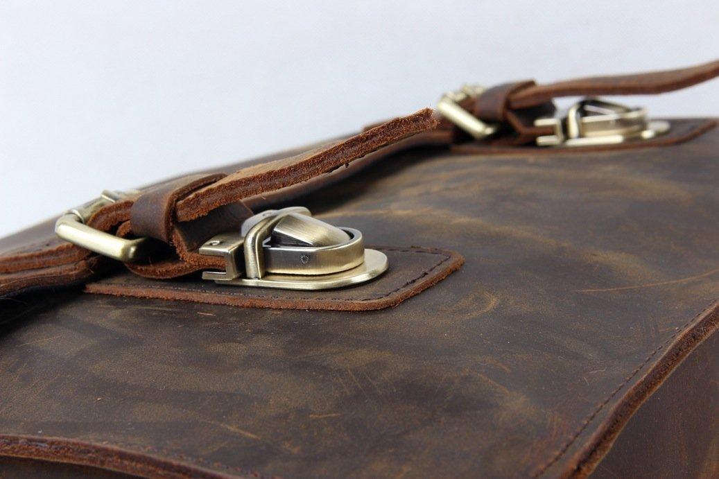 Jellybean Gorilla Vintage Leather Men Messenger Briefcase Bag for 13'' 15''Laptop Bag Satchel by Jellybean Gorilla