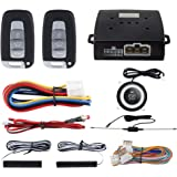 EASYGUARD PKE Car Alarm System Proximity Lock Unlock Push Button Start Remote Engine Start Keyless Go System DC12V…
