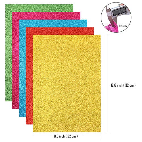 Caydo 16 Colors Superfine Shiny Faux Fabric Sheet, PU Leather Fabric Sheet for Hat Making, Earring Decorations, Jewelry Making, Sewing, Shoe Making and Craft Making by Caydo (Image #2)