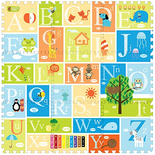 (Creative Baby 9 Piece Interactive Playmat i-Mat, Alphabet)