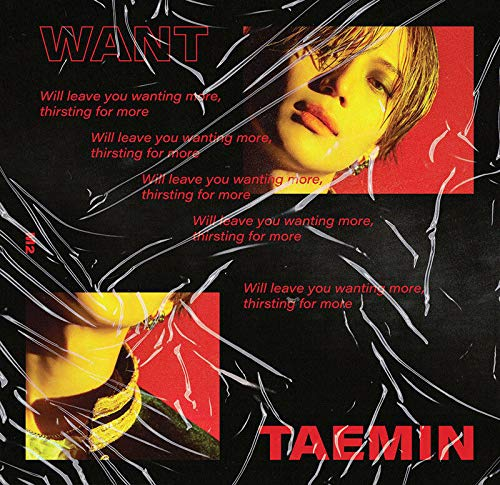 K-POP SHINEE TAEMIN - 2nd Mini Album [Want] (More version) Music CD + Standing Paper + Photocard + Booklet + Folded Poster + Tracking K-POP Sealed + Extra Photocards Set