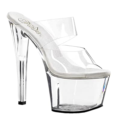 2a0d191ba5c4b9 Summitfashions 7 Inch Sexy High Heel Shoes Womens Platform Shoes Spike Heel  Clear Size  5