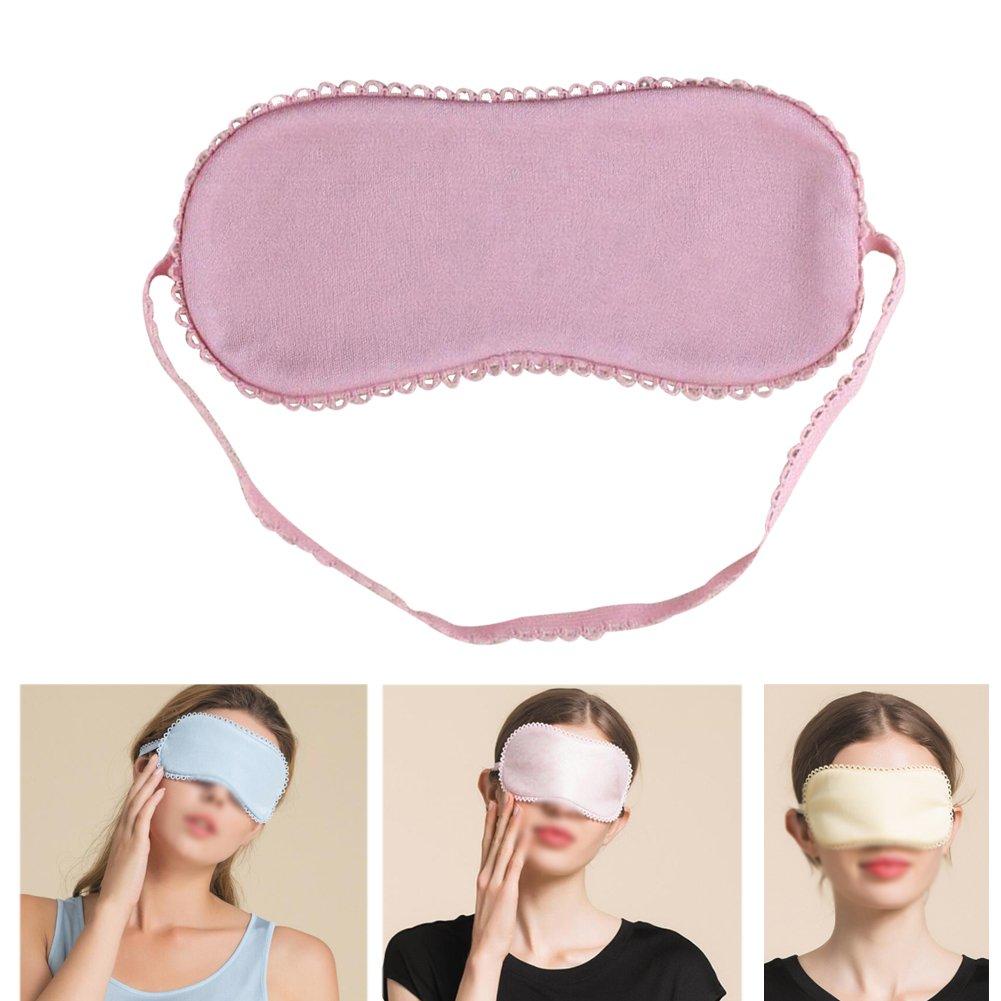 Lesirit Sleeping Silk Eye Mask Double-side Silk Eye Cover for Women Girls (Blue)
