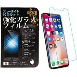 Premium Spade 日本製素材 保護ガラス 強化ガラス iPhone xr ガラスフィルム ブルーライトカット 厚さ0.33mm 防指紋 光沢 気泡レス 表面硬度9H 60日間返金保証
