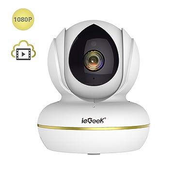 Cámara de vigilancia 1080P IP WiFi inalámbrico Interieur, ieGeek ...