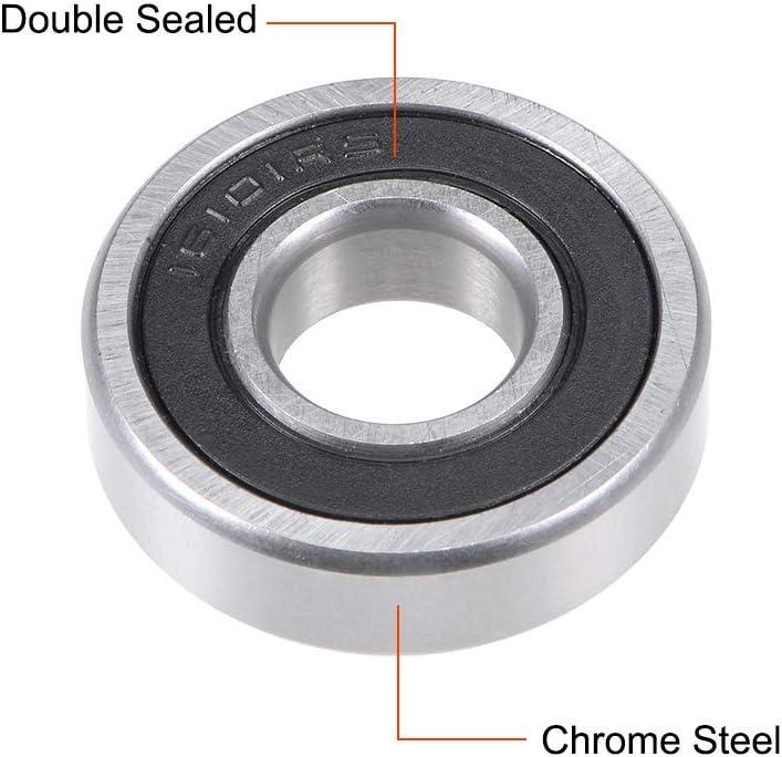Rodamientos de bolas de garganta profunda 16101-2RS 12 x 30 x 8 mm rodamientos de palanca Z2 de acero al cromo de doble estanqueidad