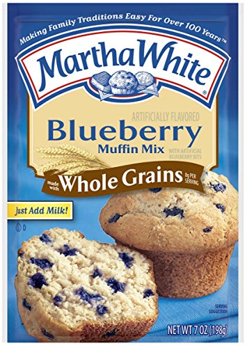 Martha White Blueberry Whole Grain Muffin Mix 7 oz (Pack of 6) -