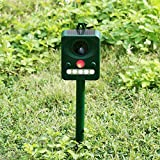 Labu Store Professional Solar Power Infrared Sensor Animal Cats Dogs And Outdoor Bird Repeller Strong Ultrasonic Wave