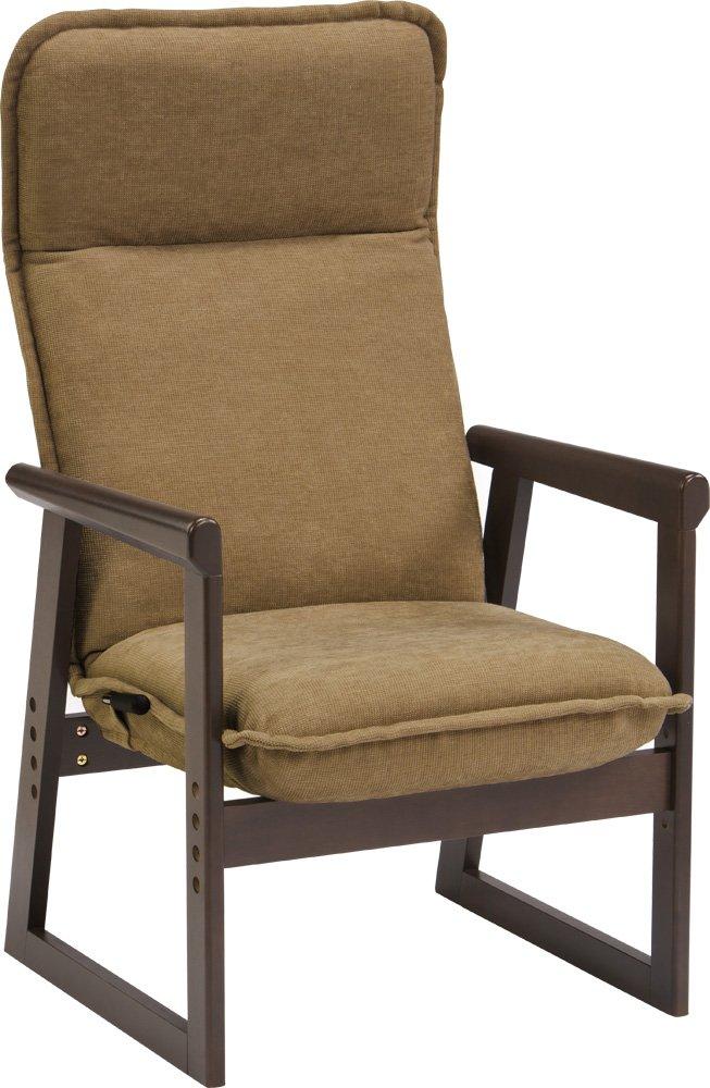 エムール 高座椅子 「ひなた」 14段階リクライニング/高さ調整ができる ブラウンブラウン B00TTT215A ブラウンブラウン ブラウンブラウン