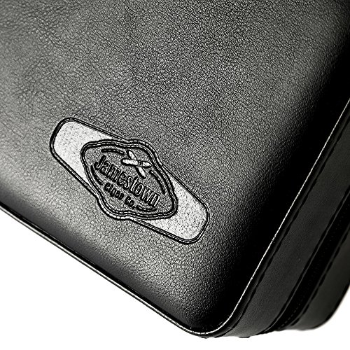 Jamestown Cigar Barcelona Leather Travel Cigar Case - Handmade Cedar-Lined Travel Case Wrapped in Soft Synthetic Leather - Holds up to 6 Full-Size Cigars by Jamestown Cigar (Image #2)