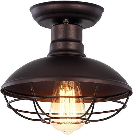 Retro Loft Industrial Metal Cage Ceiling light Edison Light Fixture Pendant M1Z1