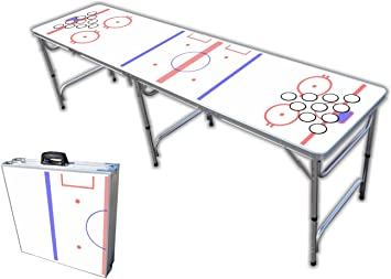 8 Foot Professional Beer Pong Table W Optional Cup Holes Hockey Rink Graphic
