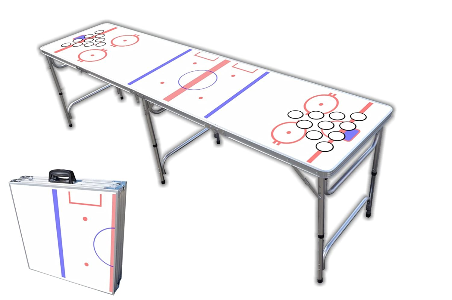 Hockey beer pong table - Amazon Com 8 Foot Professional Beer Pong Table W Cup Holes Hockey Rink Graphic Pong Games Sports Outdoors