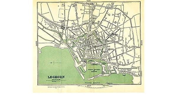 Amazon Com Leghorn Livorno Italy 1905 Uncommon Color