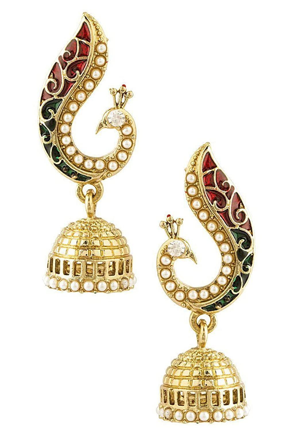 Buy YouBella Traditional Gold Plated Jewellery Pearl Jhumka ...