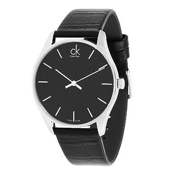 bbe871ba68d59 Amazon.com  Calvin Klein CK Men s Black Classic Dress Watch K4D211C1 ...