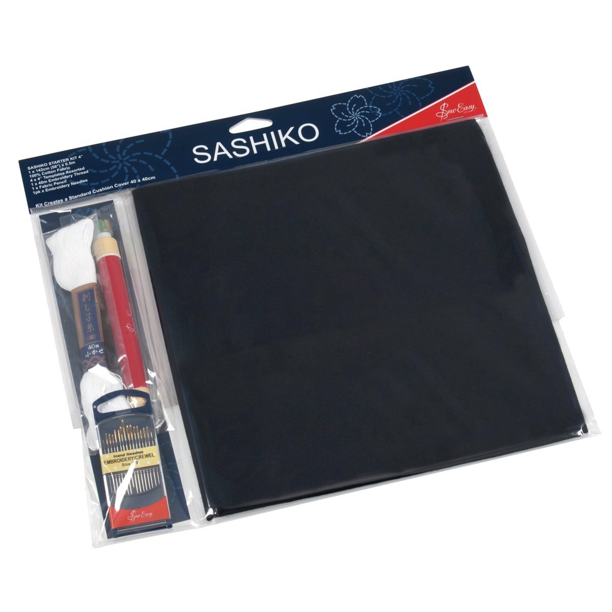 Umfasst alles f/ür Ihren Einstieg mit den Vorlagen Sew Easy Sashiko Stickerei-Set