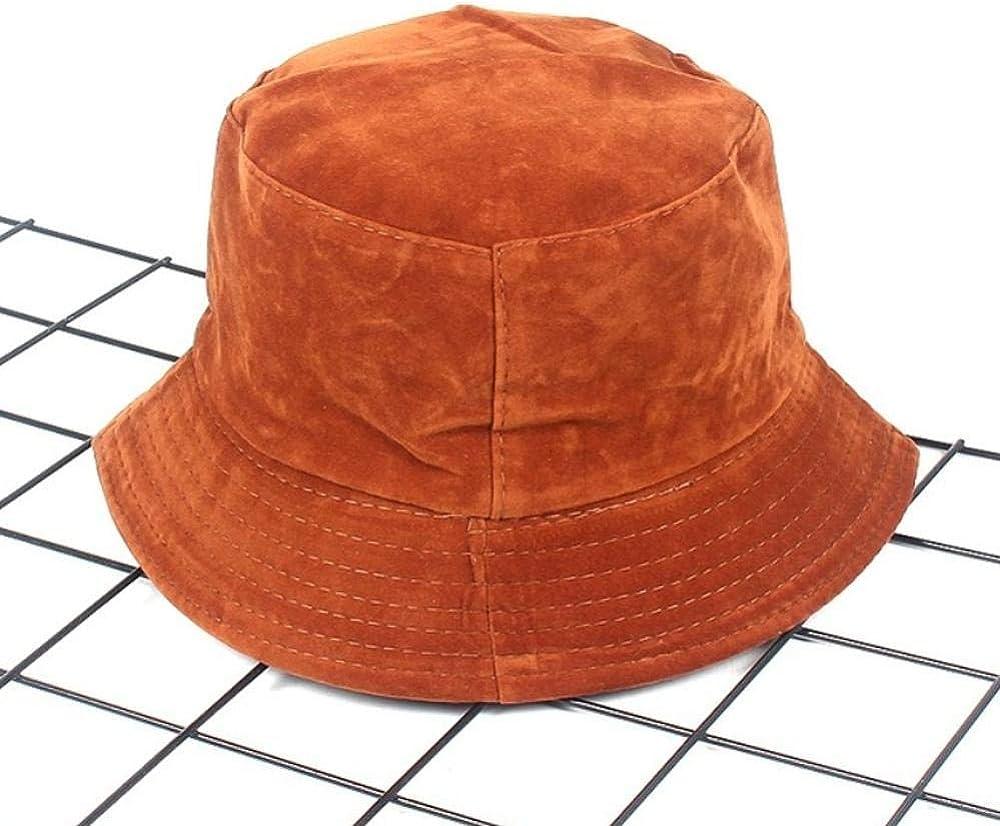 Velvet Hats for Women Casual Solid Flat Mens Hip Hop Summer Spring Korean Beach Tourism Fishing Bucket Hat