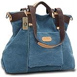 KISS GOLD(TM) Women's Casual Canvas Top-Handle Bag Shoulder Bag