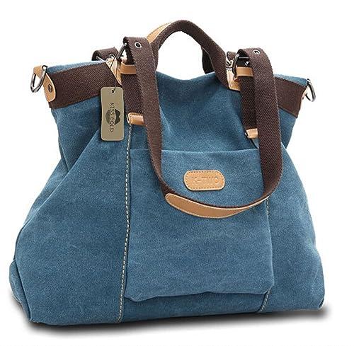 KISS GOLD(TM) Women's Casual Canvas Top-Hanle Bag Shoulder Bag