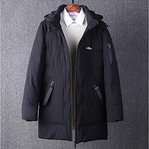 Der Mann im Langen Mantel in Herbst und Winter in der Langen Baumwolle gepolsterte Junge Mode, Freizeit,schwarz,XXXXL