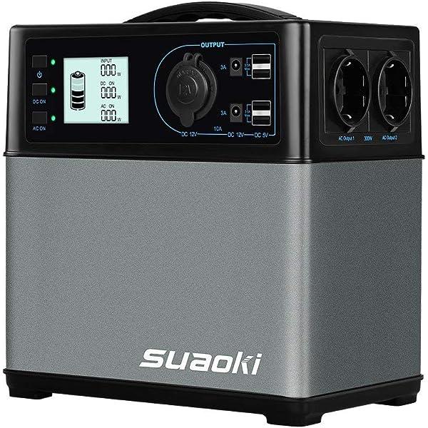 SUAOKI - 400Wh/120,000mAh Generador Portátil Solar, Cargador ...