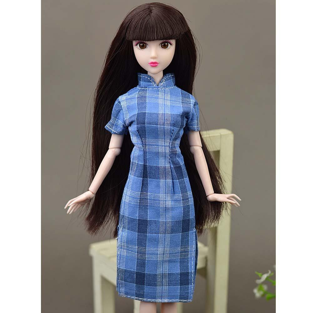 137a7660a60c25 Bekleidung & Schuhe # 09 Babypuppen & Zubehör Black Temptation  Handgefertigte Elegante Puppen Kleidung Cheongsam Partykleid Kleid ...