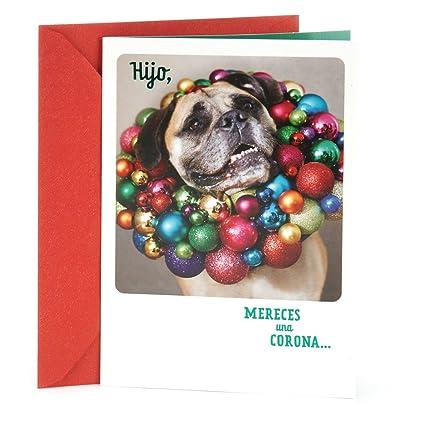 Amazon hallmark vida spanish christmas greeting card for son hallmark vida spanish christmas greeting card for son dog with ornaments m4hsunfo